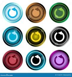 clipart color icons reset arrows [ 1300 x 1390 Pixel ]