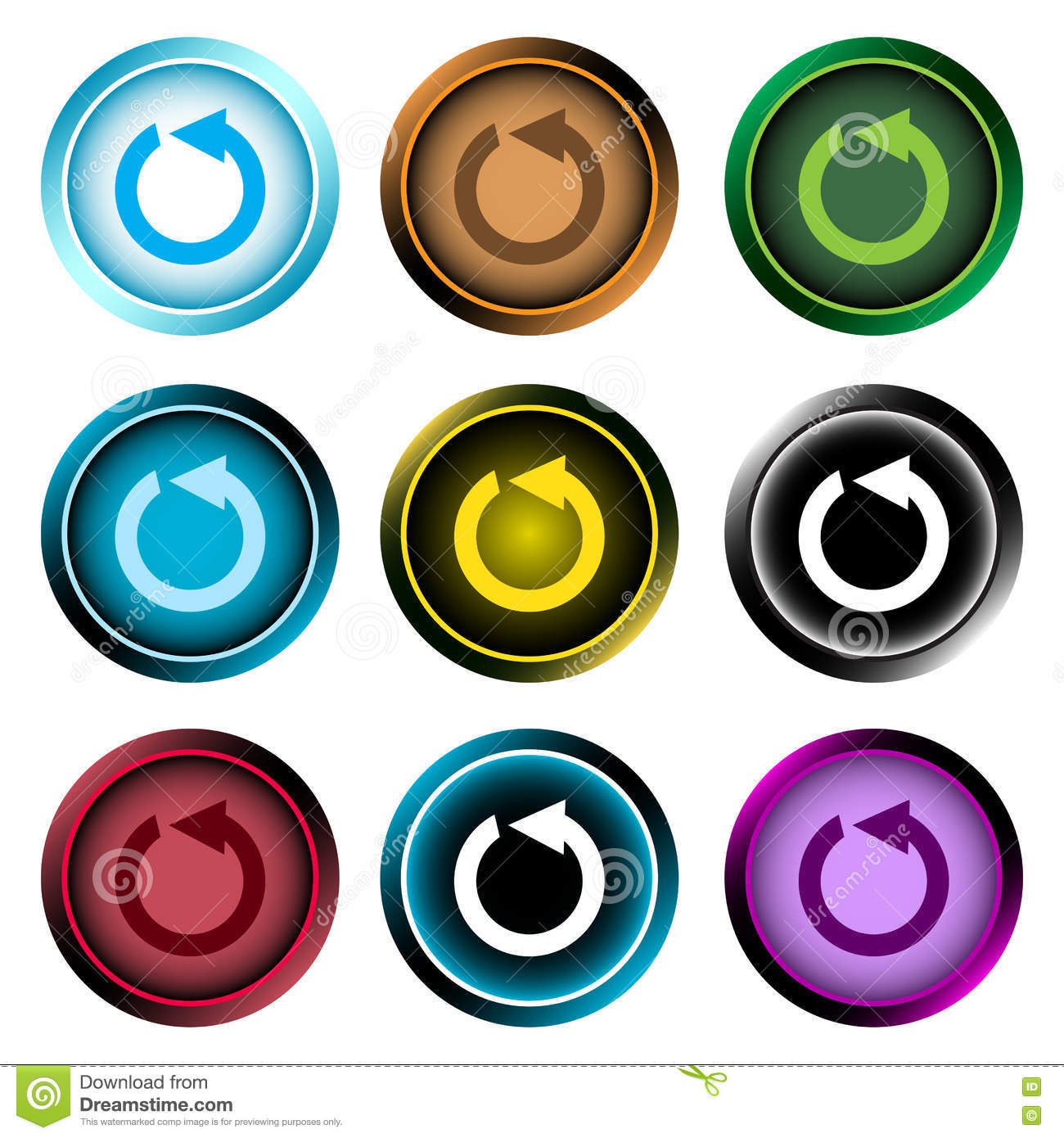 hight resolution of clipart color icons reset arrows