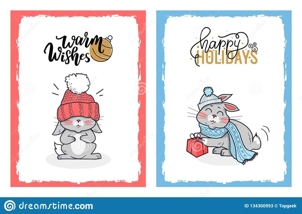 medium resolution of clipart of lovely rabbits on christmas cards