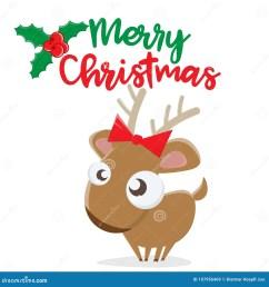 merry christmas reindeer clipart [ 1300 x 1390 Pixel ]
