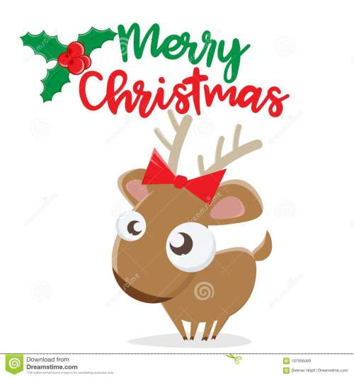 small resolution of merry christmas reindeer clipart