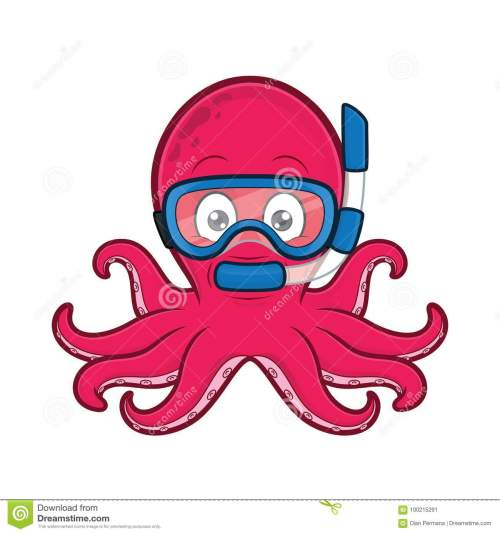 small resolution of clipart picture of an octopus scuba diver cartoon character