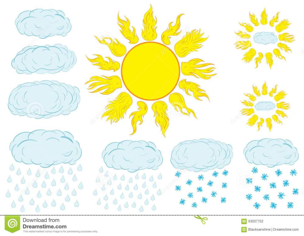 medium resolution of clipart with the sun and clouds
