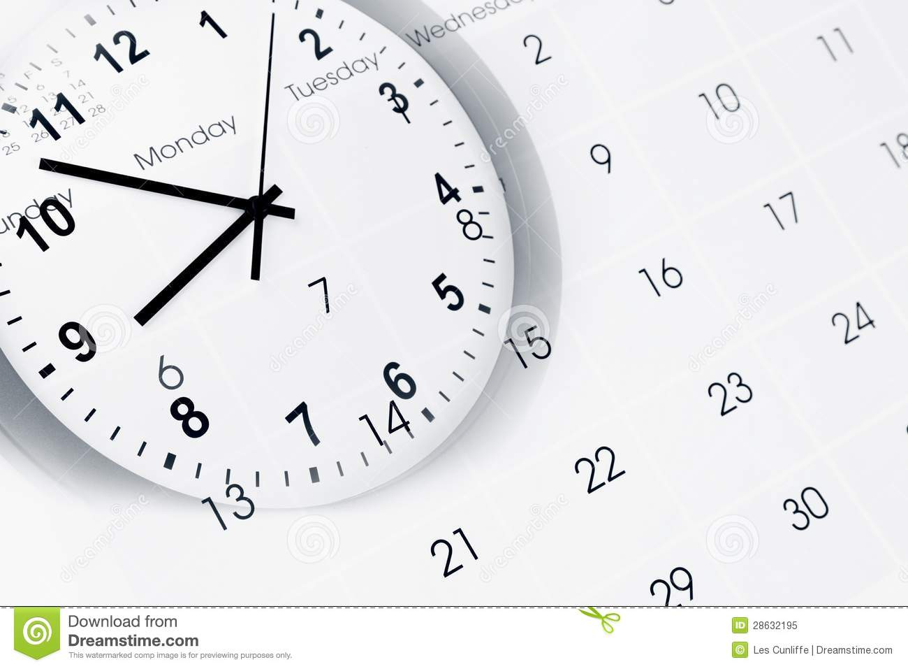 Clock And Calendar Stock Image Image Of Annual Accurate