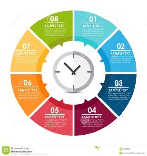 Clock circle infographic stock vector Illustration of
