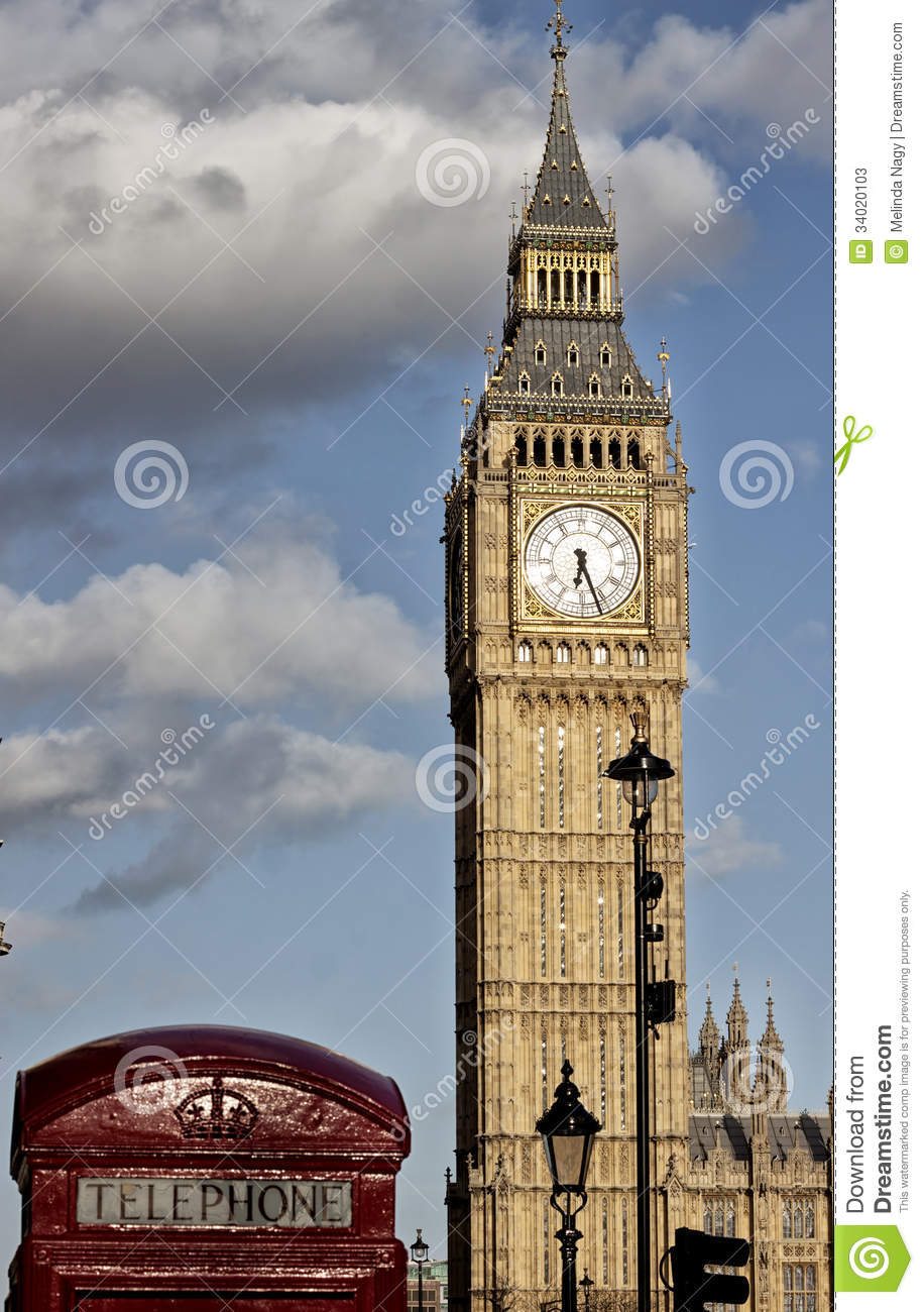 Clock face of Big Ben stock image Image of london bell