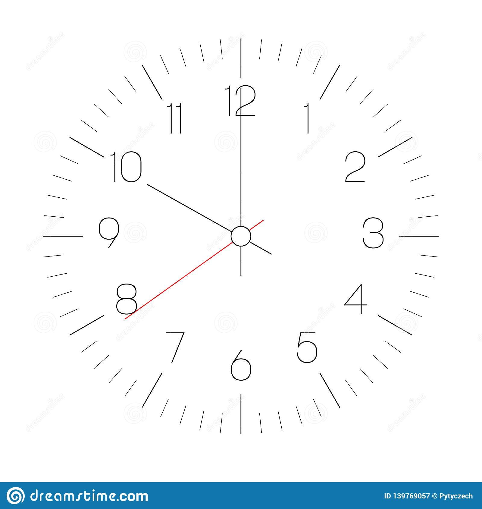 Clock Face Hour Dial With Numbers And Hour Minute And