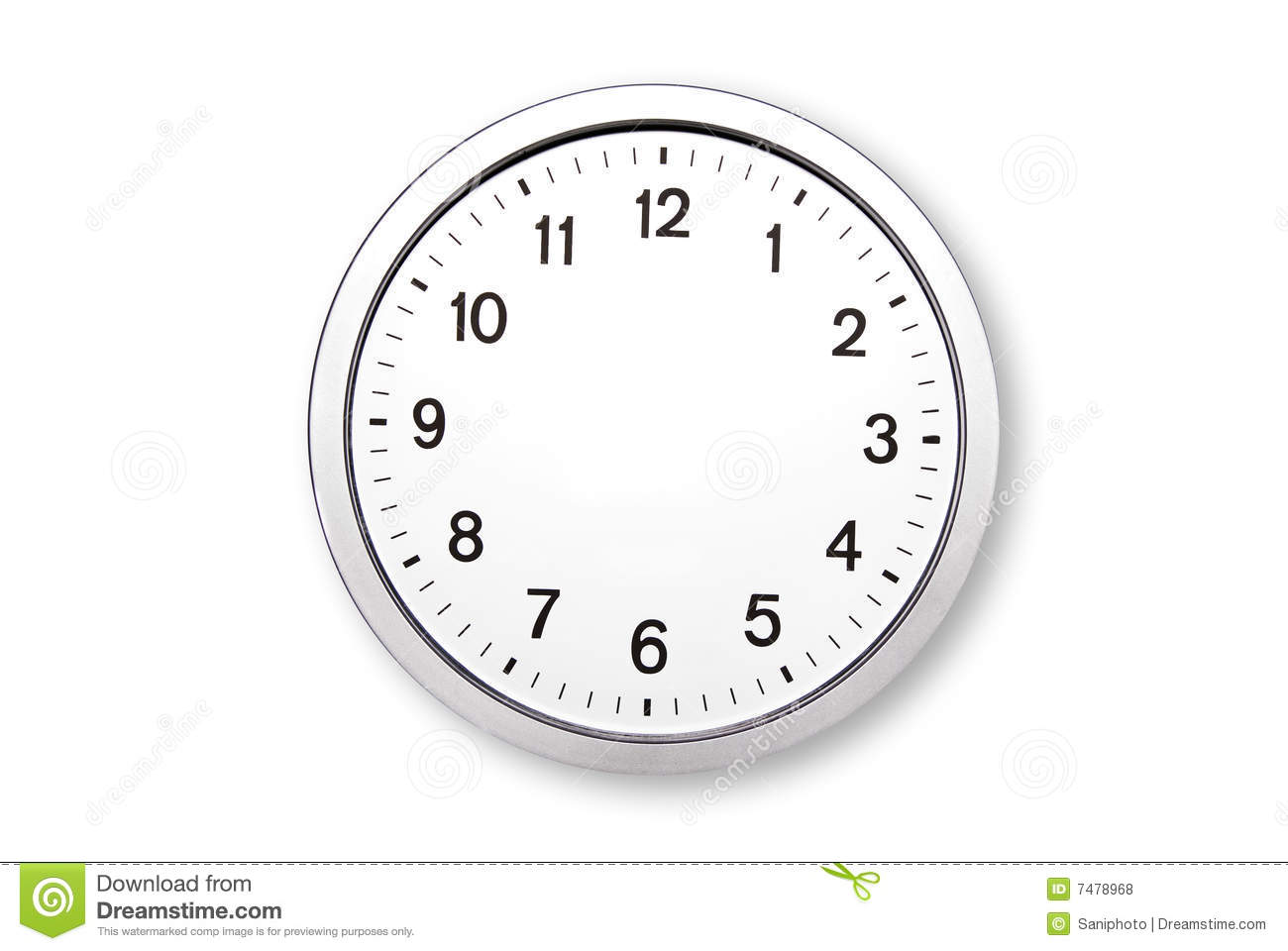 Clock without hands stock photo. Image of blank, copyspace