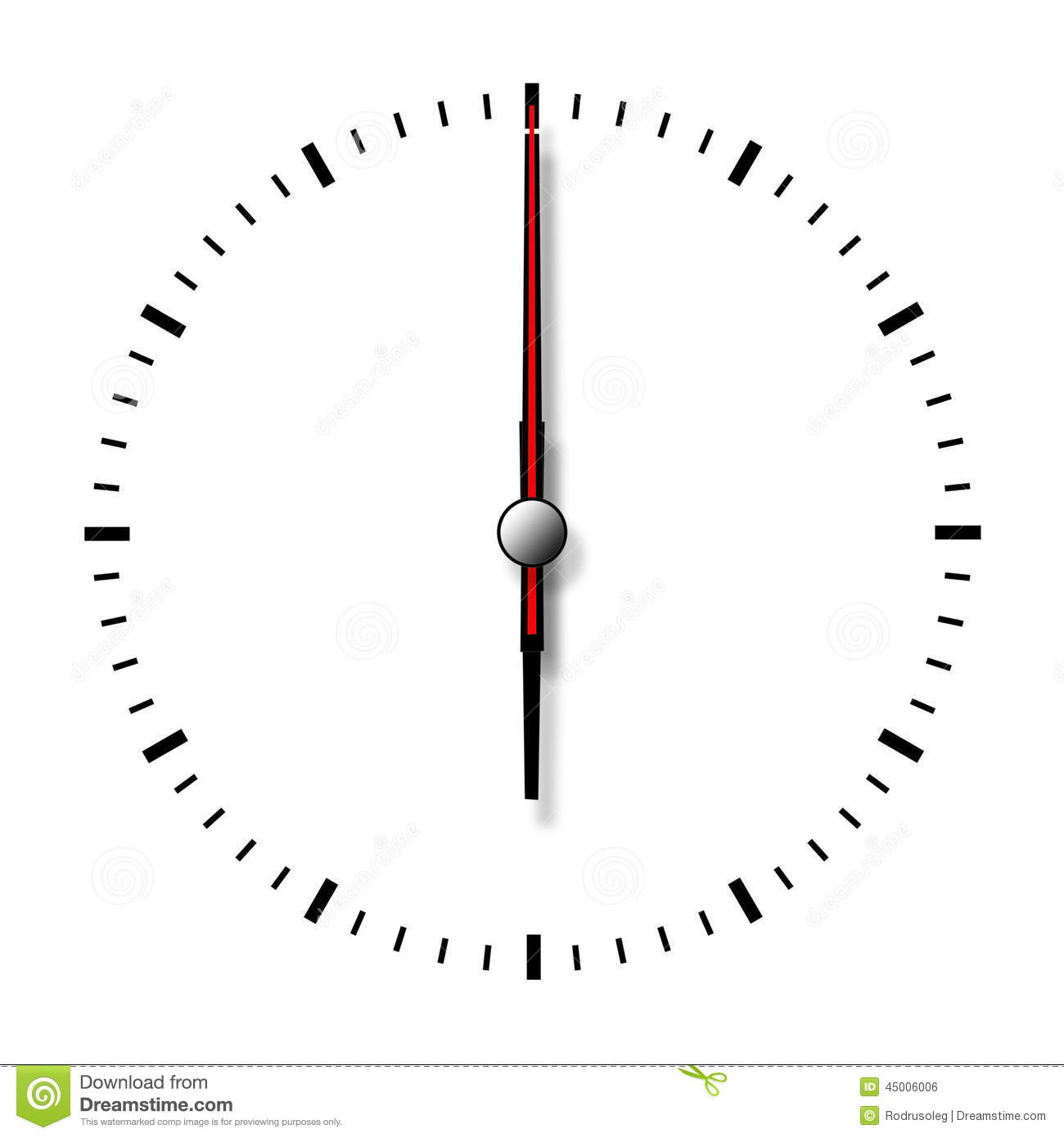 Clock Without Numbers Isolated On White Background Stock