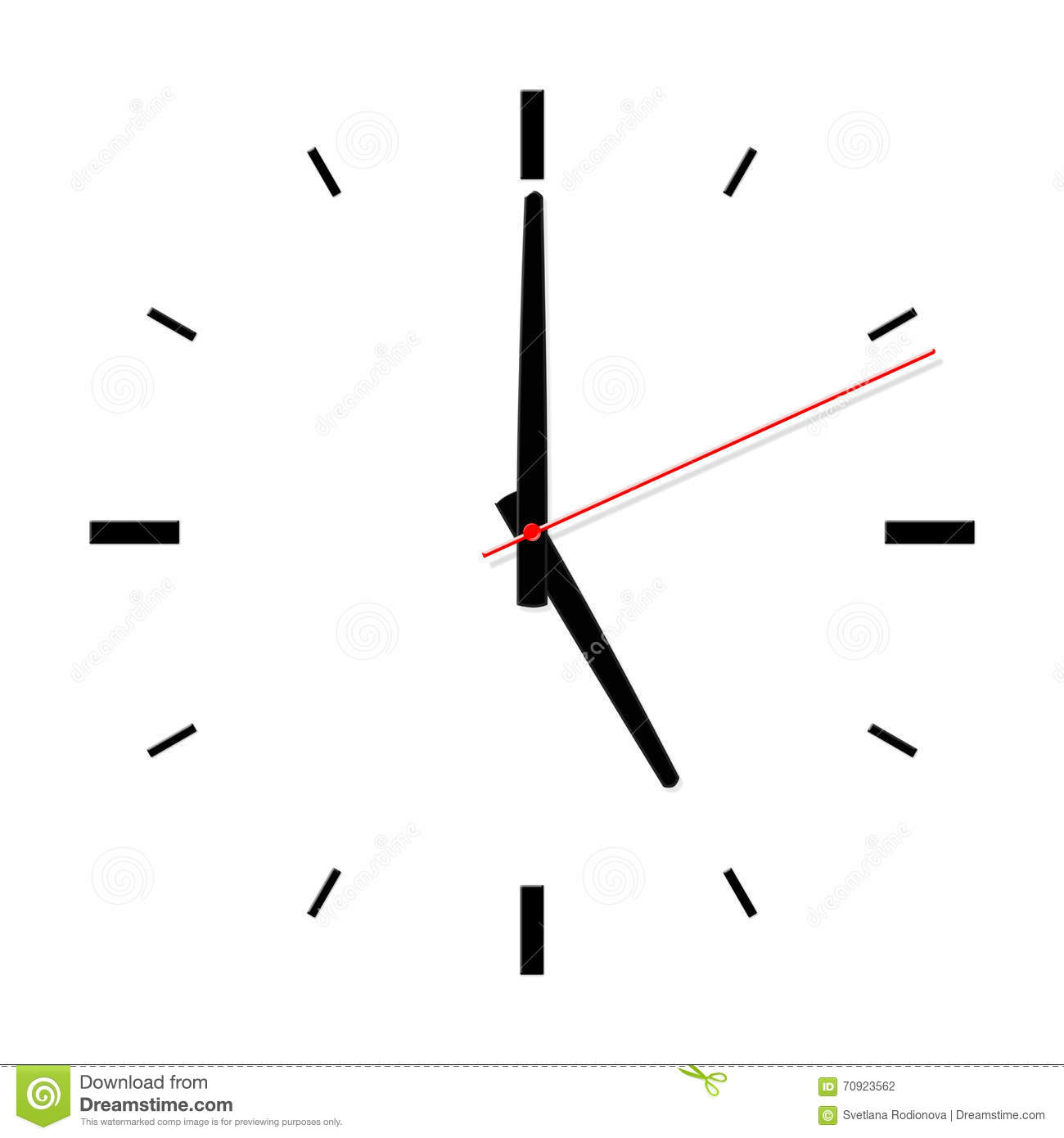 Clock Without Numbers With Shadows Stock Illustration