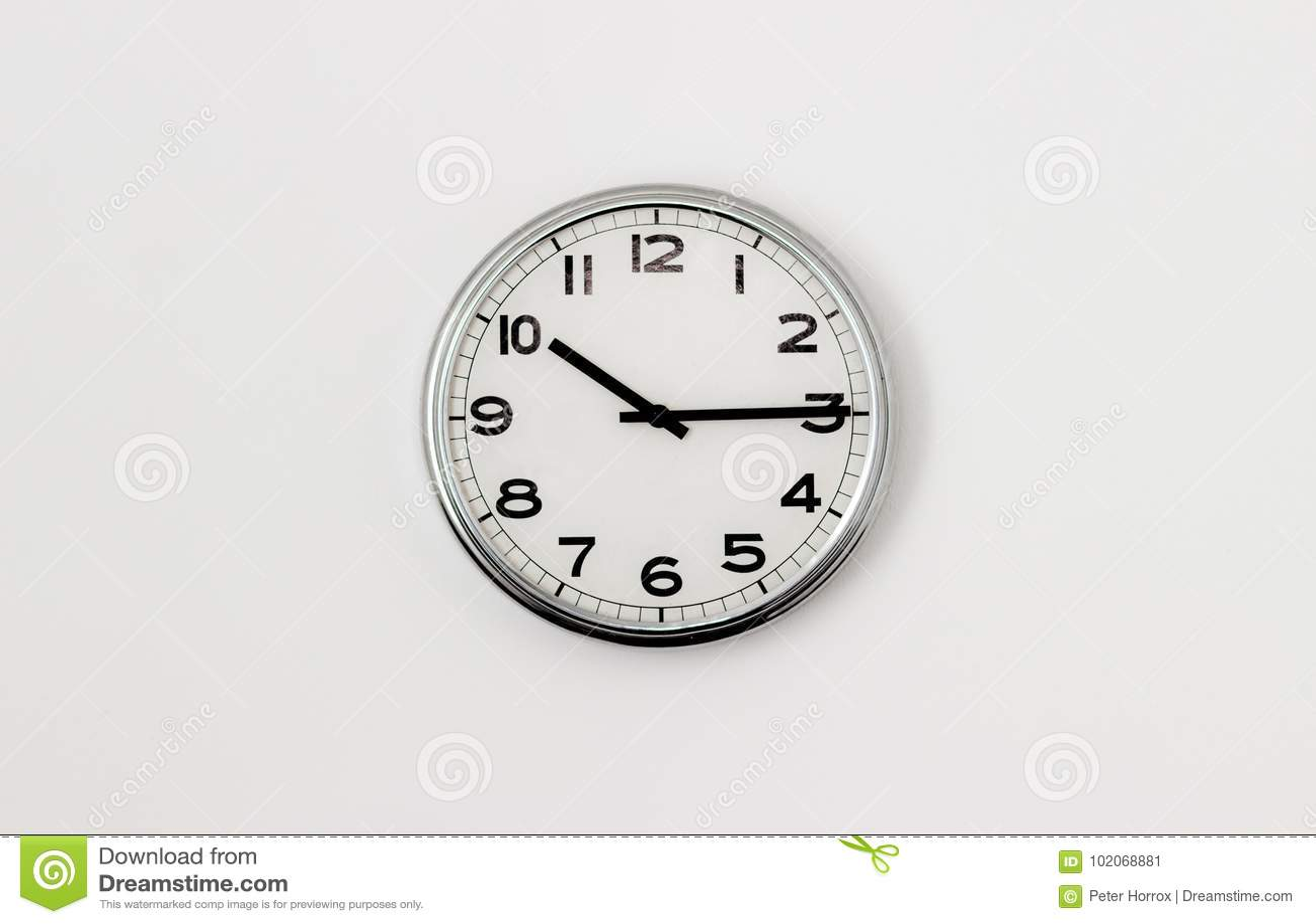 Clock 10 15 Stock Image Image Of Face Circle