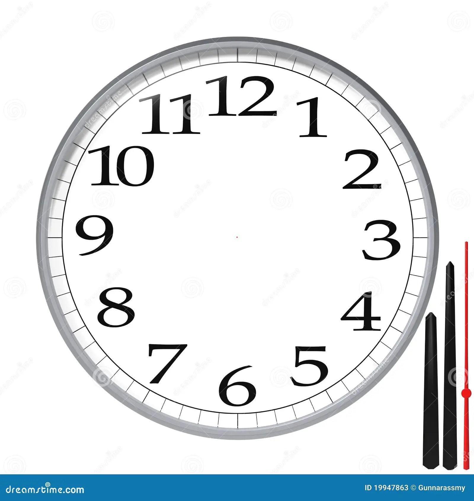 Clock Template Stock Illustration Illustration Of