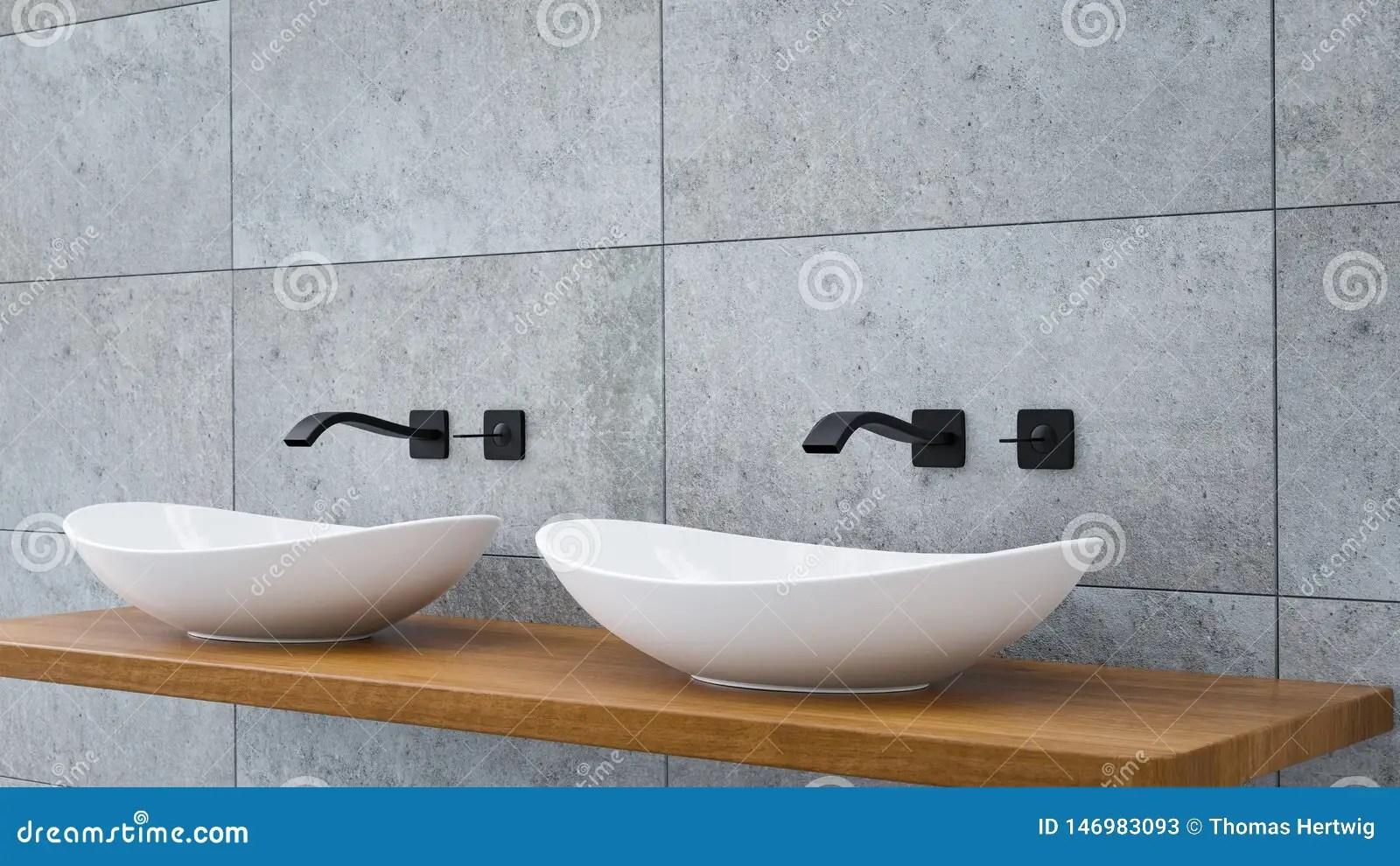 https www dreamstime com close up bathroom vanity basin wodden oak top black water faucet d illustration image146983093