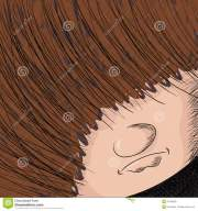 long haired person stock vector