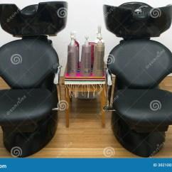 Shampoo Sink And Chair Purple Bean Bag Chairs Hair Salon Sinks Stock Image Of Beauty Floor