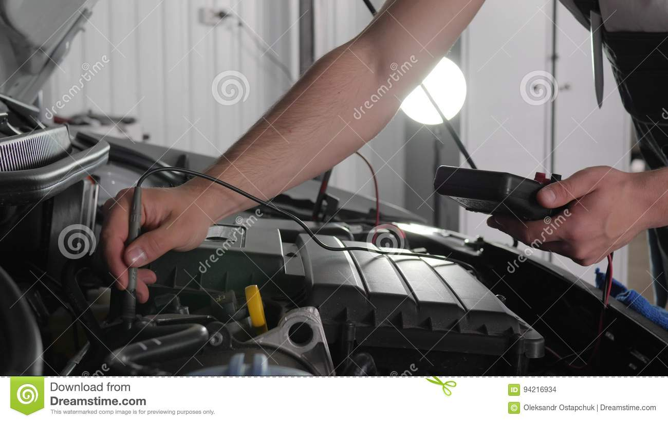 hight resolution of close up open hood mechanic s hands in car workshop check electrical wiring vehicle system review engine and all stock footage video of mechanician