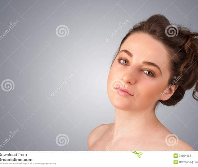 Close Up Portrait Of Beautiful Young Naked Girl