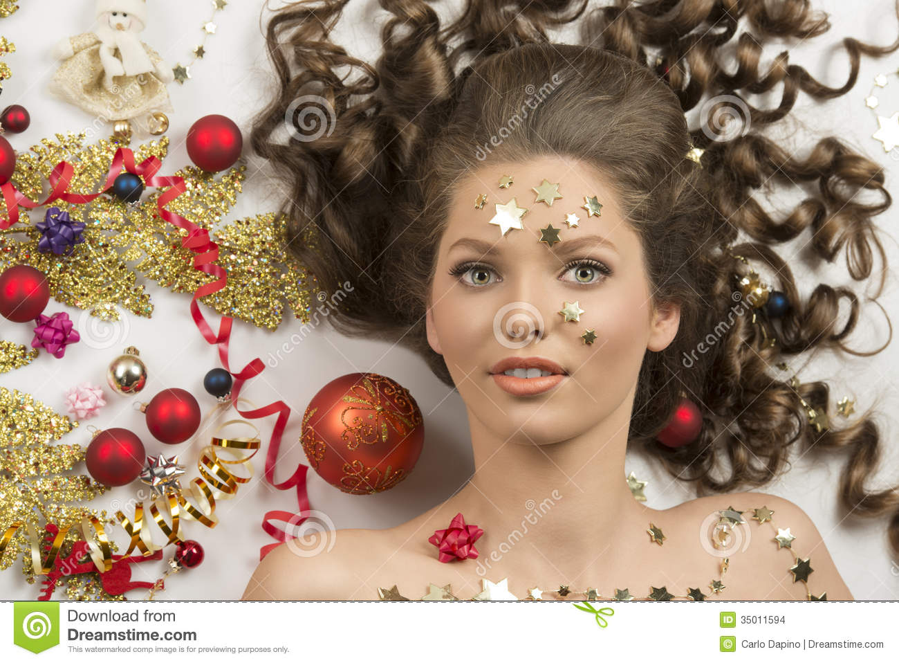 Close Up Shoot Of Christmas Woman Stock Images Image
