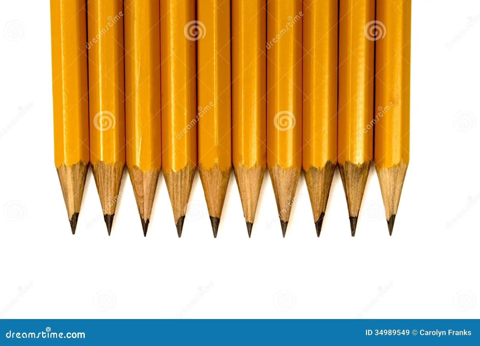 Close Up Shot Of Sharpened Pencils Stock Image