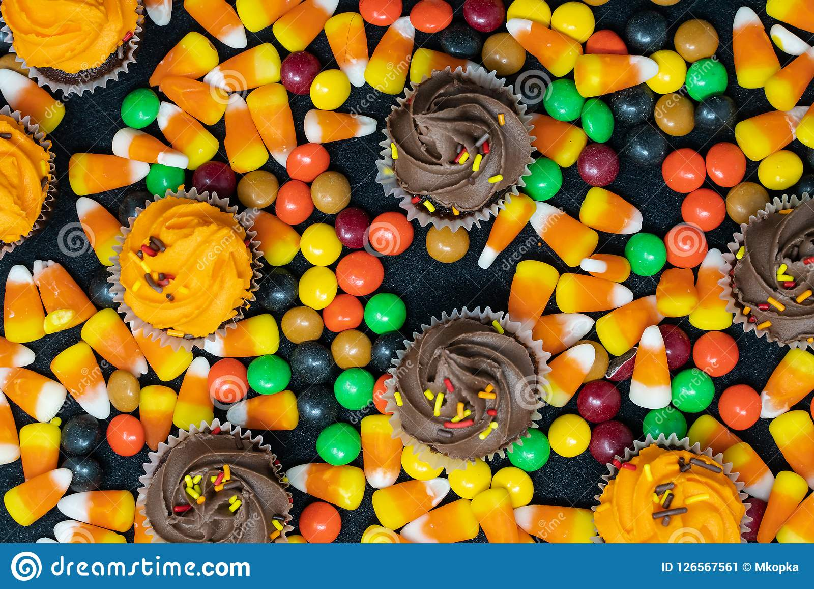 halloween candy corn and