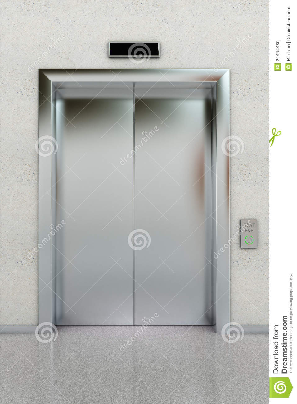 Closed Elevator Stock Photo Image 20464480