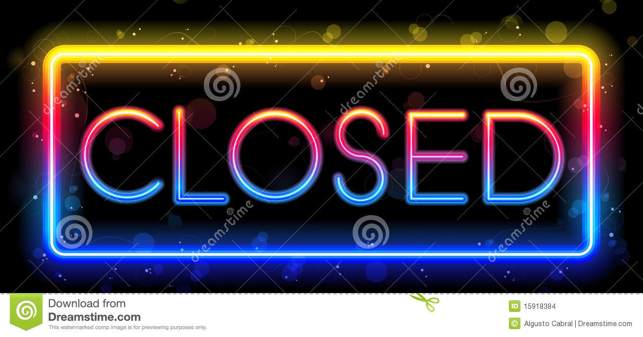 closed for business sign