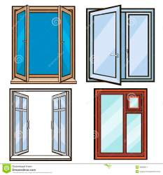 cartoon windows open closed background vector dreamstime preview