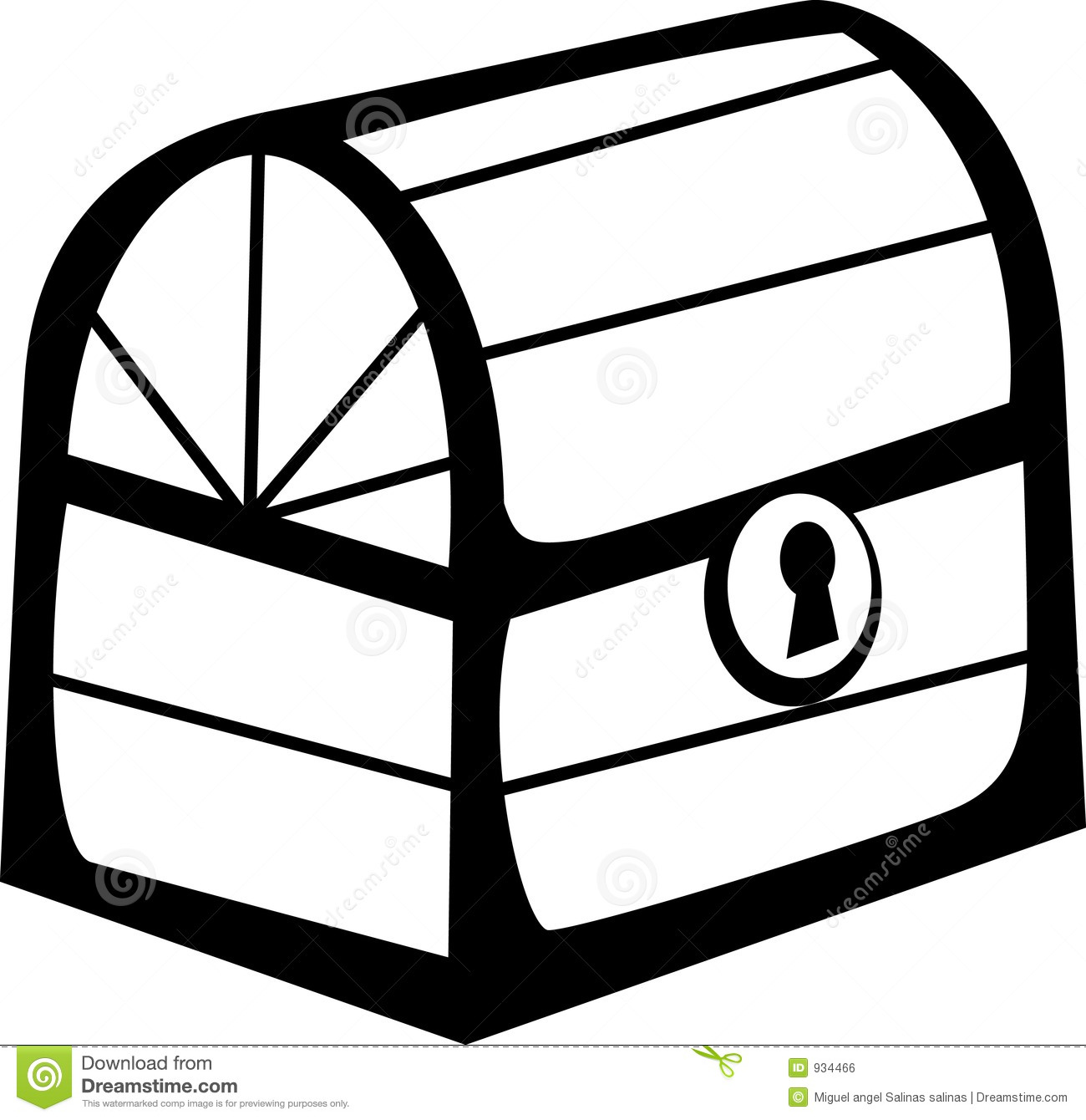 Closed Wooden Chest Vector File Format Available Royalty