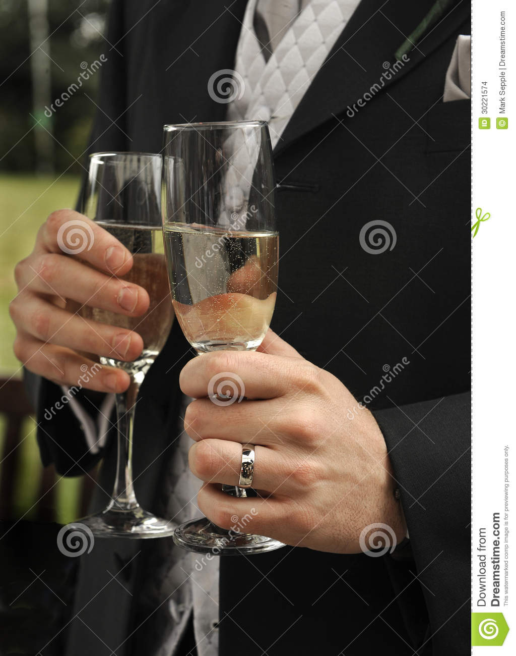 Mens Hands With Champagne Glasses Stock Images  Image 30221574