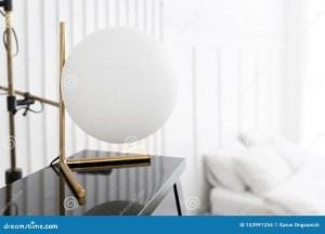 blurry bed sphere piano lamp ball interior closeup close