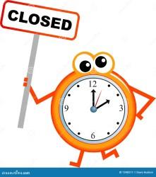 closing sluitingstijd chiusura cartoon clock tempo closed graphic schedule