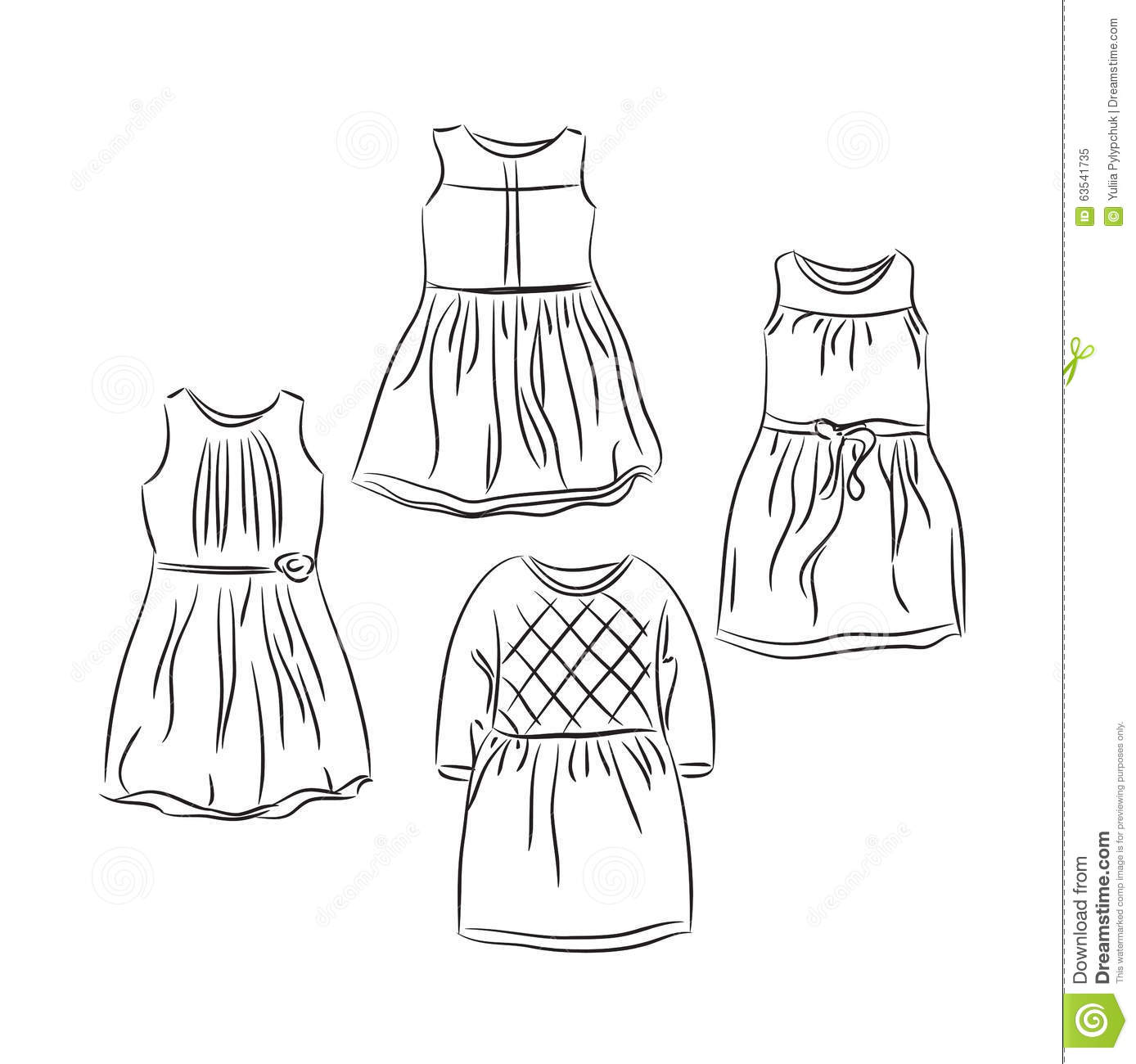 Clothes For Baby Girl Stock Vector