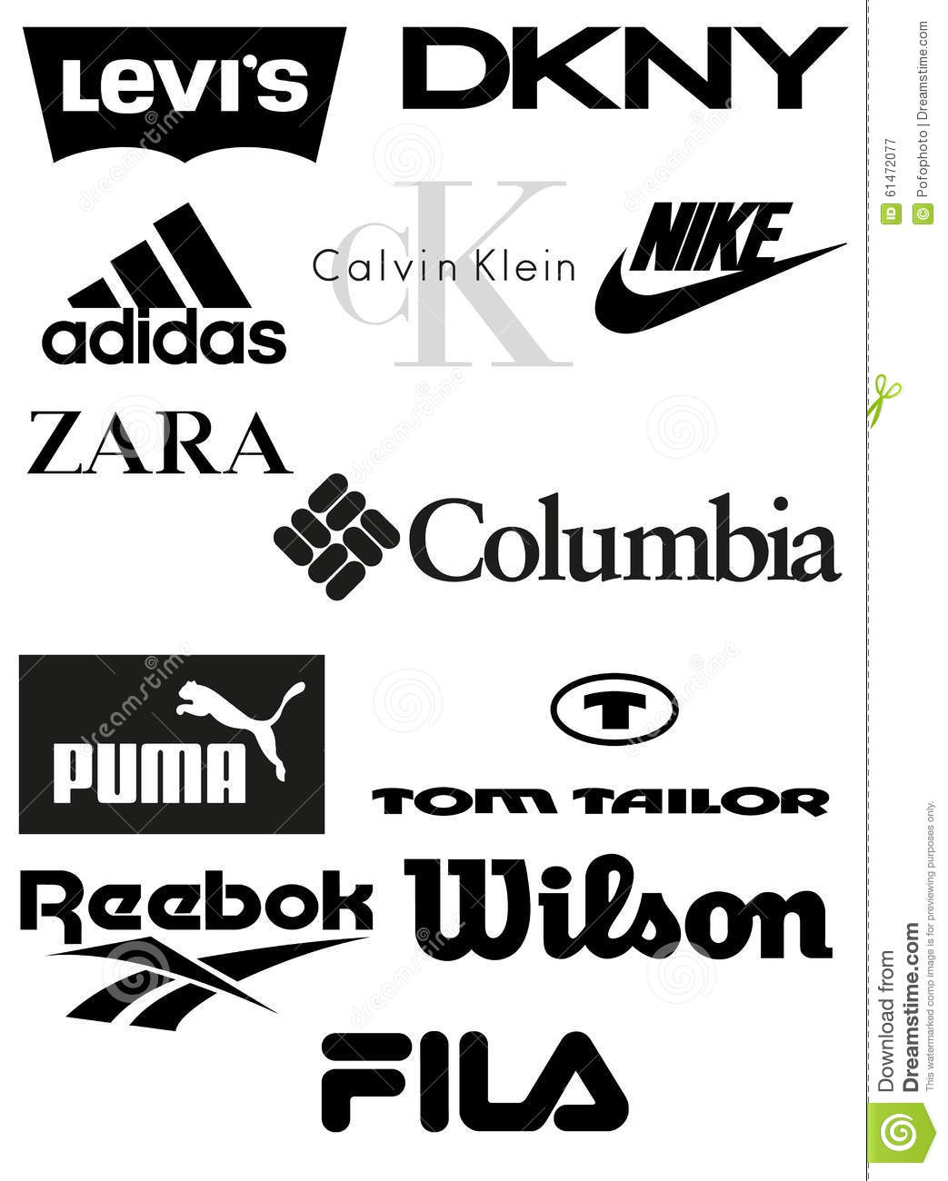 Clothing Brands Vector Editorial Photography Illustration