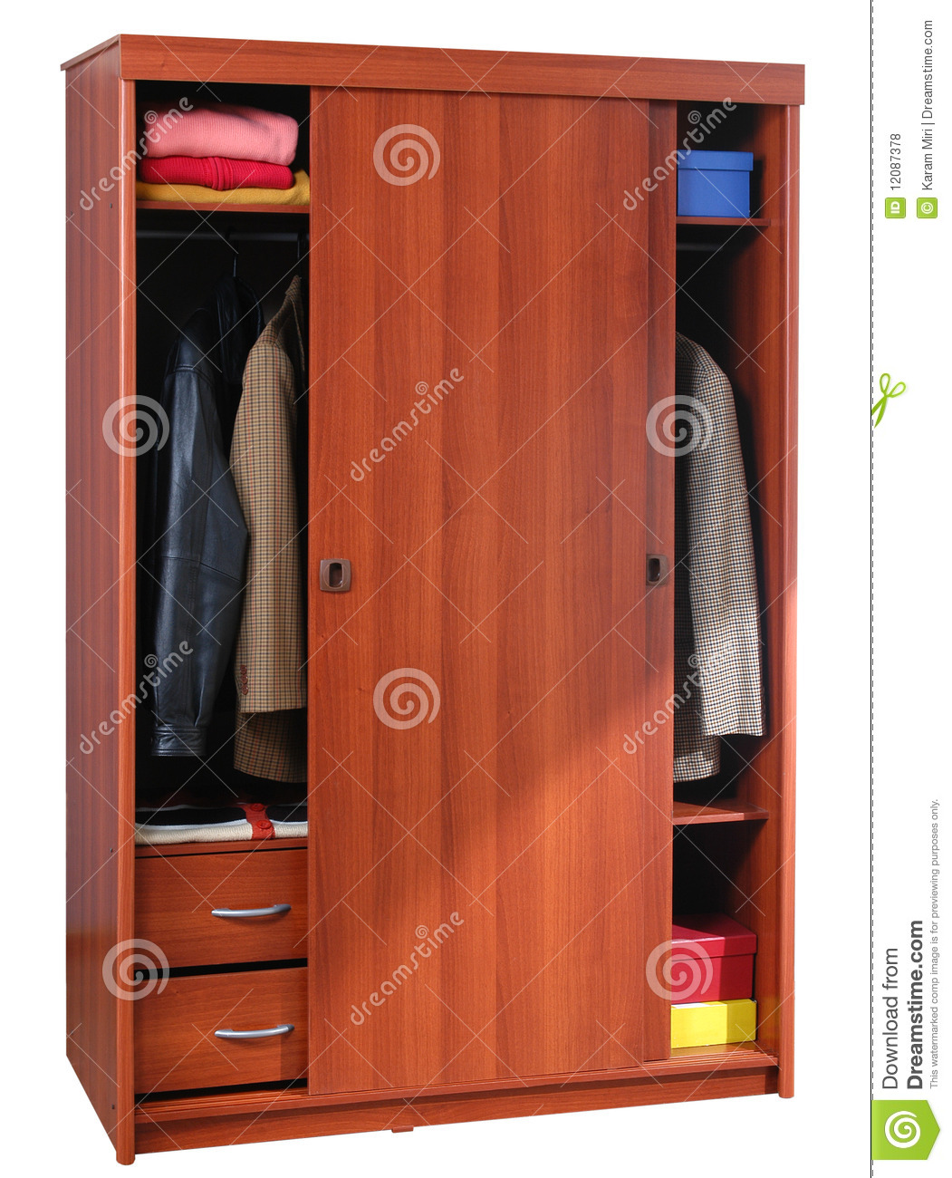 Clothing cabinet Isolated stock photo Image of hard