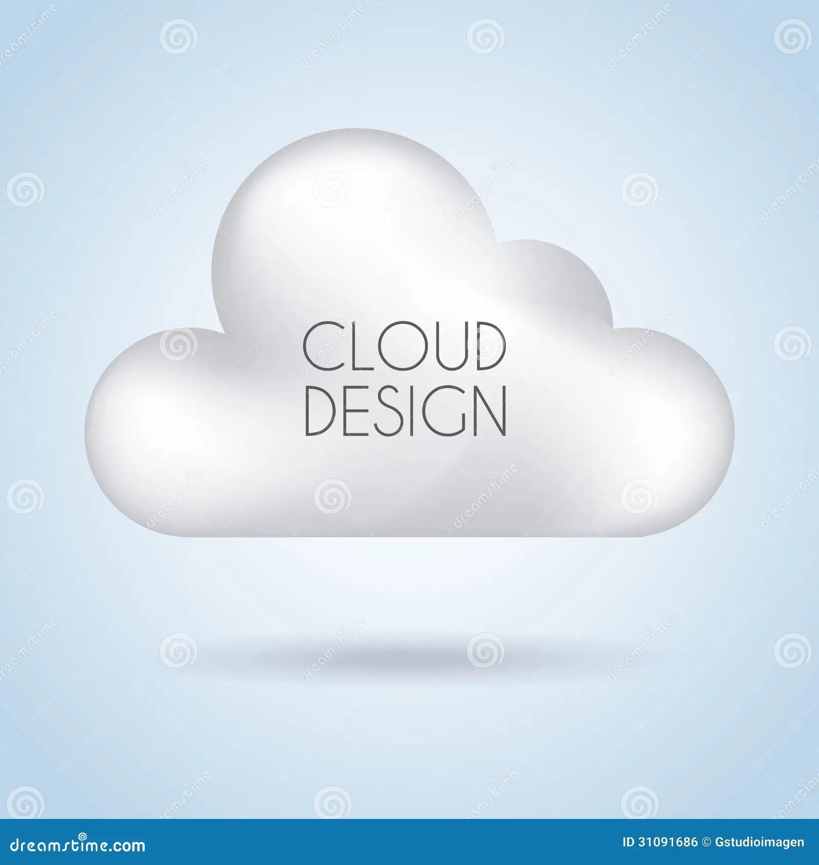 cloud design stock vector
