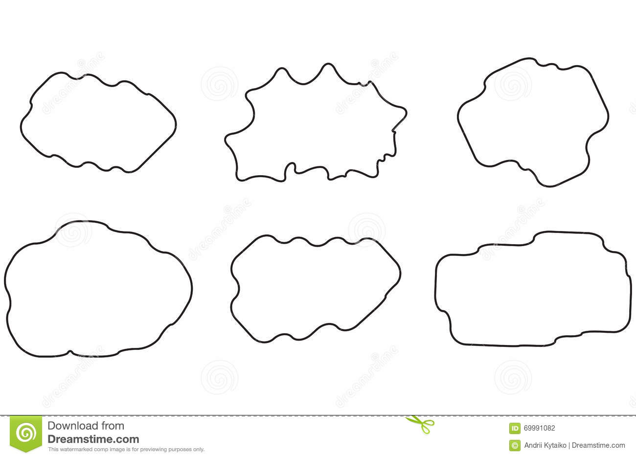 Cloud linear set stock vector. Illustration of nature