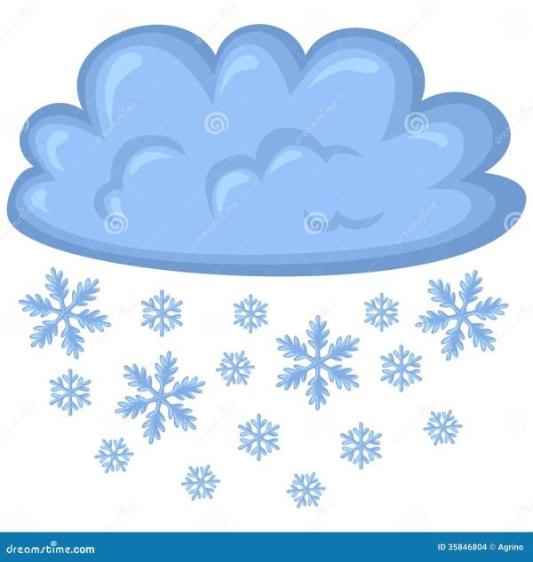 cloud of snow stock vector. illustration