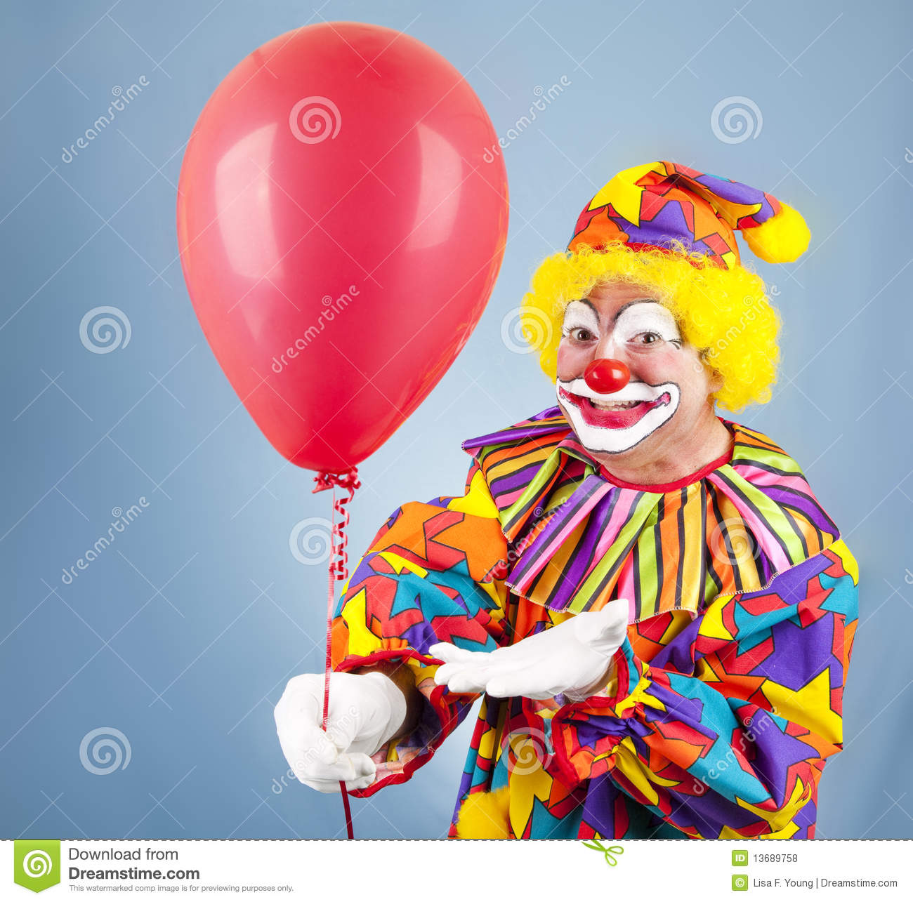 Clown With Balloon For You Royalty Free Stock Photos