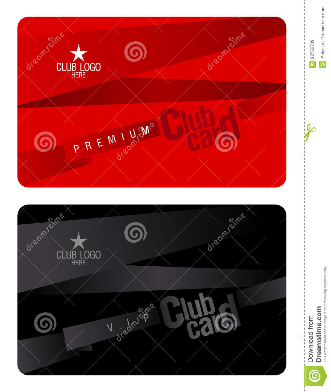 hight resolution of club card design template