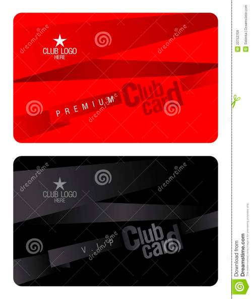 small resolution of club card design template