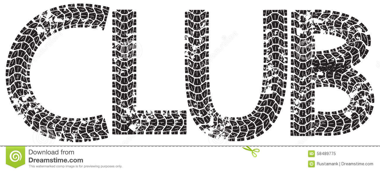 Motocross Text With The Letters Made From Motorcycle Tire