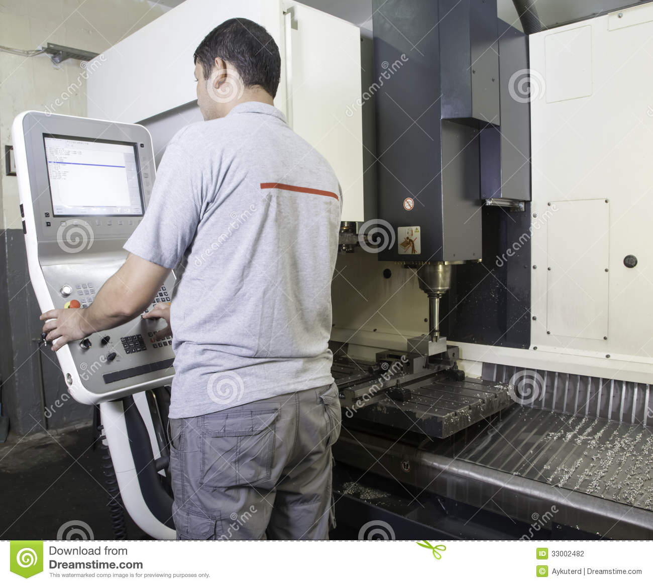 CNC Lathe Machine Stock Photography  Image 33002482