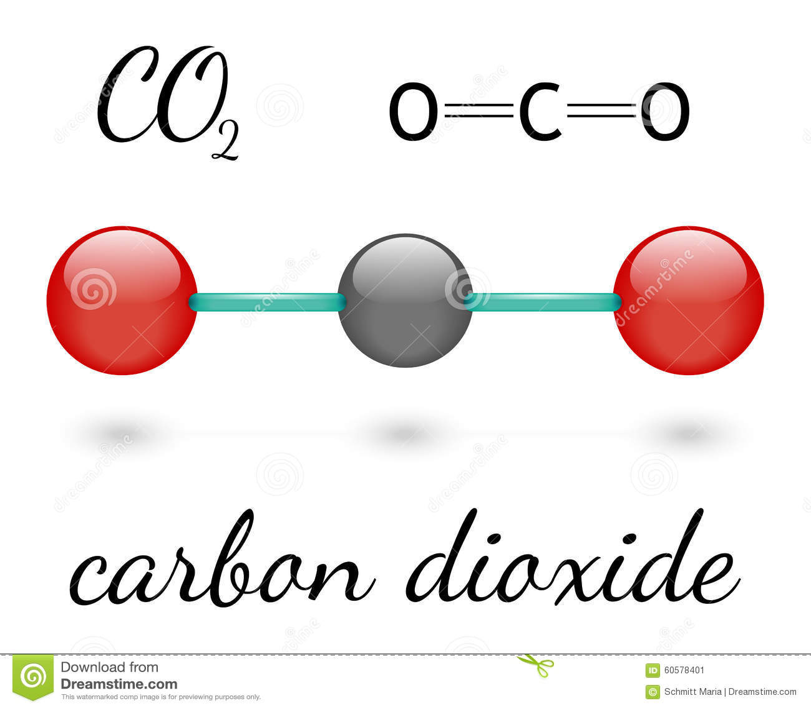 Co2 Molecule Stock Illustration Illustration Of Education