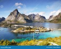 Coast Of Lofoten Islands Stock Beach