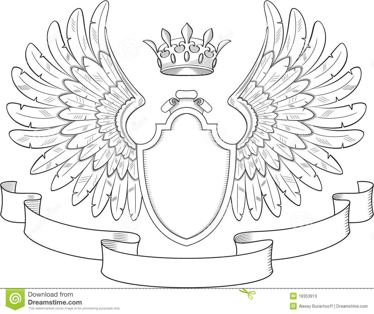 Coat Of Arms With Wings Stock Photos