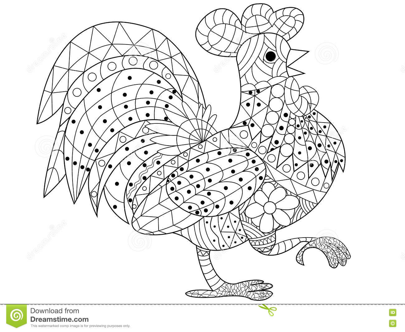 Coloring Book Vector For Adults Stock Vector