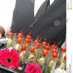 Kitchen Tray Gold Appliances Cocktail Party Food Royalty Free Stock Images - Image ...