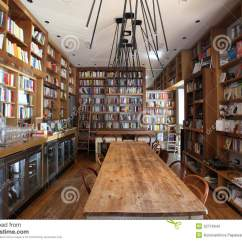 Restaurant Chairs For Less Vintage Rattan Coffee Bar And Bookcase In Rome Editorial Stock Photo - Image: 32716943