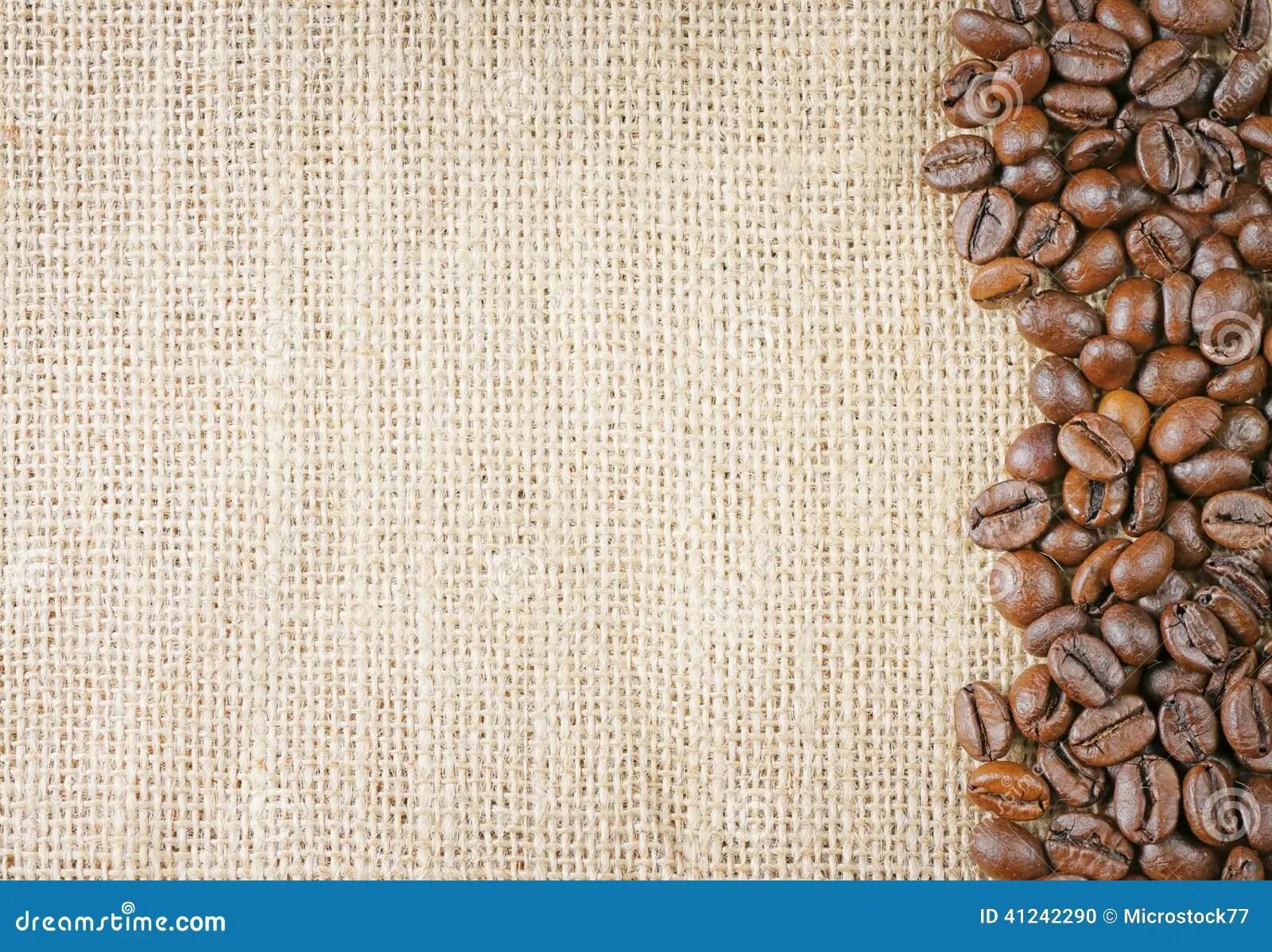 Coffee beans juta stock photo Image of aromatic field