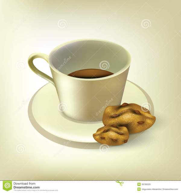 coffee with cookies stock vector
